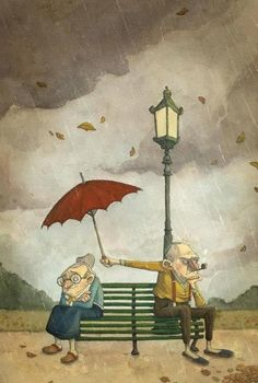 Love is caring for someone, even when you're mad at them.