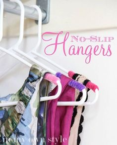 Check out 16 Cool DIY Crafts to Make with Pipe Cleaners | No-Slip Hangers with Pipe Cleaners by DIY Ready at http://diyready.com/16-cool-diy-crafts-to-make-with-pipe-cleaners/