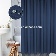 Check out this product on Alibaba.com App:Quality Waffle Shower Curtain Mildew Resistant and Waterproof Waffle Fabric with Rust Proof Metal Grommets 72x72 inch Navy Blue https://m.alibaba.com/nMFVVr