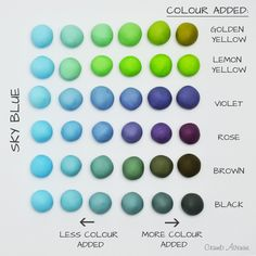 photo, the ball darkened a bit ;) ) - I should have added a bi Icing Color Chart, Color Mixing Chart, Color Charts, Cake Topper Tutorial, Cake Toppers, Food Coloring Chart, Frosting Colors, Biscuit, Colorful Cakes