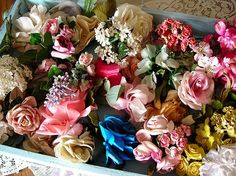 old flower corsages
