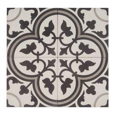 Marockanskt Kakel Safi är en torrpressad och handgjord cementplatta i svart, vitt och grått från vårt egentillverkade marockanska sortiment. REA 590:- m²