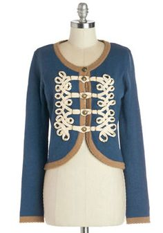 Le Cord On Blue Cardigan, #ModCloth| to wear with a really pretty tulle dress and ballet flats and dance to the Nutcracker suite.