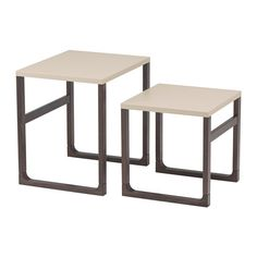 RISSNA Nest of tables, set of 2 IKEA Can be used individually or be pushed together to save space.