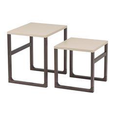 RISSNA Tables gigognes, lot de 2 IKEA Ces tables s'utilisent de façon individuelle ou ensemble pour gagner de la place.