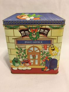 M&M's Brand Town Letters For Santa Tin 1995