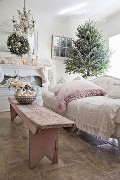 pink and white christmas