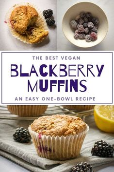 These vegan blackberry muffins are so soft and so moist - a delicious way to use up freshly picked blackberries, or use frozen berries instead! #Vegan #TheVegSpace Blackberry Recipes Vegan, Blackberry Muffin, Vegan Baking Recipes, Delicious Vegan Recipes, Dairy Free Margarine, Dairy Free Baking, Vegan Banana Muffins, Berry Muffins, Vegan Milk