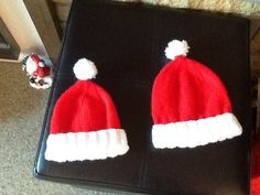 Santa hats for newborn and 3-6 months