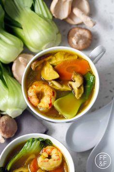 Bok Choy Recipes, Shrimp Recipes, Paleo Recipes, Real Food Recipes, Soup Recipes, Dinner Recipes, Cooking Recipes, Crohns Recipes, Soups
