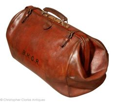 Leather Brief or Gladstone Bag