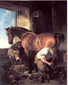 Sir Edwin Henry Landseer - A blacksmith is such a manly job!