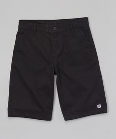 Black Chino Shorts - Boys by DC #zulily #zulilyfinds