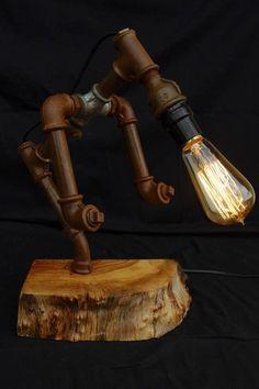 LAMPE STYLE INDUSTRIEL VINTAGE STEAMPUNK : LE PORTEUR