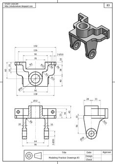 Drawing Design I know this is a solidworks attribute but is there a way to do this on autocad? By that i mean i have generated a drawing how can i annotate its dimensions in such a way? Isometric Drawing Exercises, Autocad Isometric Drawing, Mechanical Engineering Design, Mechanical Design, Bloc Autocad, Solidworks Tutorial, Geometric Drawing, 3d Modelle, Industrial Design Sketch