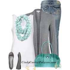 """""""Cute Scarf"""" by cindycook10 on Polyvore  (I actually just bought this scarf on Amazon for $11.99!)"""