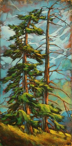 Tall tree drawing 50 ideas for 2019 Landscape Art, Landscape Paintings, Landscape Photography, Nature Photography, Pine Tree Painting, Pine Tree Art, Tree Artwork, Artwork Paintings, Tree Paintings