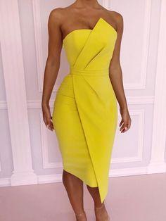 Striking Fold Front Asymmetric Dress