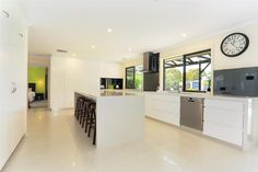 Renovation Builder Smith & Sons Reno of the Week - A Dream Kitchen in Narre Warren Island Bench, Stainless Appliances, Kitchen Pictures, Kitchen Renovations, New Details, Bar Stools, Melbourne, Sons, Tiles