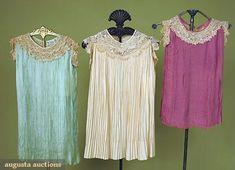 3 Little Girl's Party Dresses, 1920s, Augusta Auctions, October 2007 Vintage Clothing & Textile Auction, Lot 437