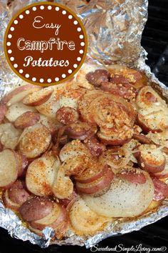151170Easy Campfire Potatoes Recipe I am SO READY for some cooler weather! When it starts to get cooler, that means football, the holidays and spending more time outside is in our future. This Easy Campfire Potatoes recipe is great to make at home on the grill, in the oven OR…..you can place it on the […]