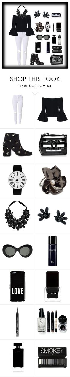 """""""Sem título #367"""" by criscaruccio ❤ liked on Polyvore featuring Alexis, Senso, Chanel, Rosendahl, Elizabeth and James, Stefanel, Simone Rocha, Givenchy, Context and NYX"""