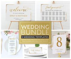 Wedding Seating, Wedding Menu, Gold Wedding, Wedding Table, Menu Card Template, Seating Chart Template, Envelope Templates, Silhouette Cameo, Pop Up