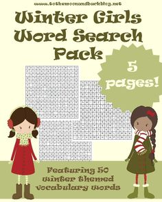 Winter Girls Word Search Pack