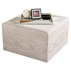 "Lucia Ottoman | 599.00 retail | 30""sq x 18""h | Joss"