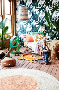 7 ideas for a jungle-themed kids' room. Photography by Armelle Habib. Styling by Julia Green. From the December 2016 issue of Inside Out magazine. Available from newsagents, Zinio, https://au.zinio.com/magazine/Inside-Out-/pr-500646627/cat-cat1680012#/ Google Play, https://play.google.com/store/newsstand/details/Inside_Out?id=CAowu8qZAQ, Apple's Newsstand, https://itunes.apple.com/au/app/inside-out/id604734331?mt=8&ign-mpt=uo%3D4, and Nook.