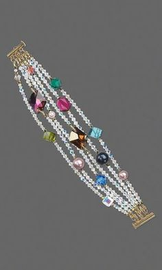 Multi-Strand Bracelet with SWAROVSKI ELEMENTS - Fire Mountain Gems and Beads by nadia