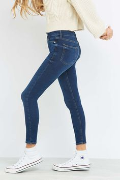 BDG Clean Breeze Mid-Rise Indigo Skinny Jeans