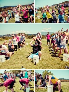 pre-wedding field day, bridesmaids vs groomsmen, i want to do this!
