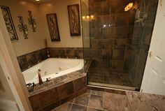 Gorgeous bathroom (tub and shower)