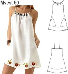 Amazing Sewing Patterns Clone Your Clothes Ideas. Enchanting Sewing Patterns Clone Your Clothes Ideas. Sewing Dress, Dress Sewing Patterns, Diy Dress, Sewing Clothes, Clothing Patterns, Sewing Shorts, Robe Diy, Simple Dresses, Summer Dresses