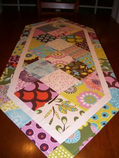 charm pack table runner!
