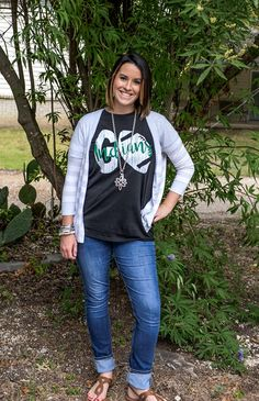 What a great t-shirt for football season! Gildan Softstyle unisex  tee.  Distressed design and personalize with team name.