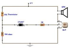 simple fire alarm circuit using thermistor germanium diode and rh pinterest com Notifier Fire Alarm Wiring Diagram Typical Fire Alarm Wiring