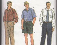 Men's Plus Size Pants, Shorts, Shirts Pattern 2X-6X Simplicity 9477