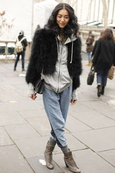 I love this. #LiuWen #model #fur #style #winterwear