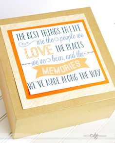 Sweet gift box label for a romantic gift full of memories you've made together.