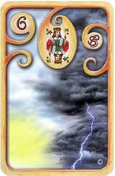 Baralho Cigano – As Nuvens - Carta 6 - Linha das Águas