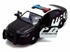2013 Ford Police Interceptor, Black - Showcasts 76920D - 1/24 Scale Diecast Model Car