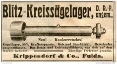 Original-Werbung/ Anzeige 1912 - BLITZ - KREISSÄGELAGER / KRIPPENDORF FULDA - ca. 100 x 60 mm