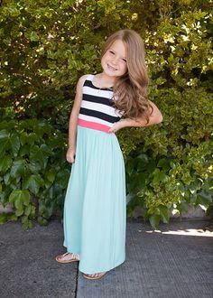 3c3d4bdacd Stripes, Tank Maxi Dress, Maxi Dress, Dress, Mommy and Me, Matching. Ryleigh  Rue Clothing ...