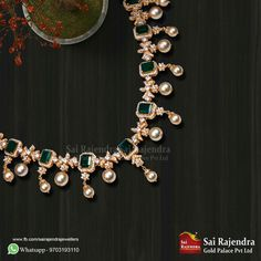 Price For Gold Jewelry Gold Jewelry For Sale, Gold Jewelry Simple, Emerald Jewelry, Rose Gold Jewelry, Diamond Jewellery, Gold Jewellery Design, Bridal Necklace, Jewelry Patterns, Necklace Designs