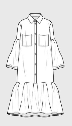 Trendy dress pattern drawing inspiration Source by fashion drawing Dress Design Sketches, Fashion Design Drawings, Fashion Sketches, Portfolio Mode, Fashion Portfolio, Portfolio Ideas, Fashion Flats, Fashion Art, Fashion Outfits