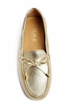 Gold Driving Slip on Shoe by Elia B.