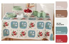 Kitchen Tablecloths Vintage & Reproductions-great site for reproductions Kitchen Tablecloths, Vintage Tablecloths, Kitchen Linens, Linen Tablecloth, Homey Kitchen, Regal Design, Cottage Kitchens, Granny Chic, Linens And Lace