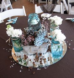wedding reception center piece